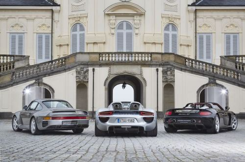 WP Porsche-959-918-Spyder-and-Carrera-GT-from-left